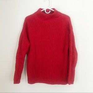 Gap Red Cable Knit Sweater